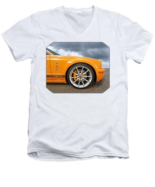 Shelby Gt500 Wheel Men's V-Neck T-Shirt by Gill Billington