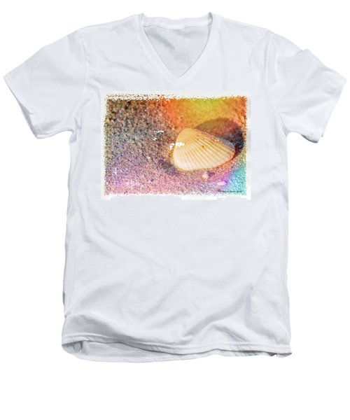 Men's V-Neck T-Shirt featuring the photograph Shelling Out by Marvin Spates