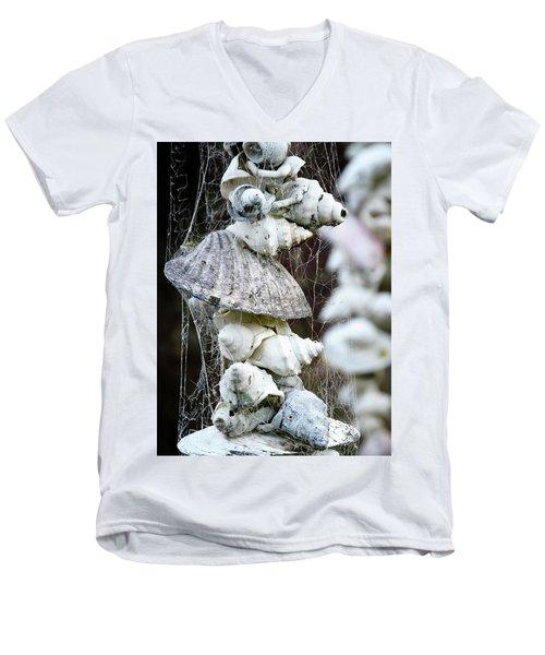 Shells Composition Men's V-Neck T-Shirt by Yurix Sardinelly