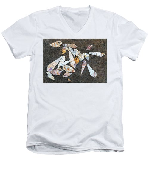 Shells From The Sea Of Galilee Men's V-Neck T-Shirt