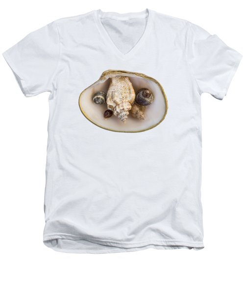 Shells Within A Sea Shell Men's V-Neck T-Shirt