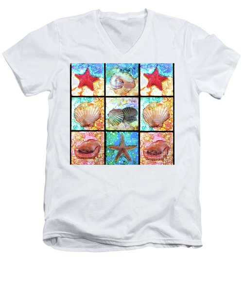 Shells X 9 Men's V-Neck T-Shirt by Alene Sirott-Cope