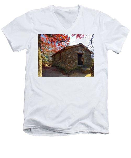 Blood Mountain Shelter Men's V-Neck T-Shirt