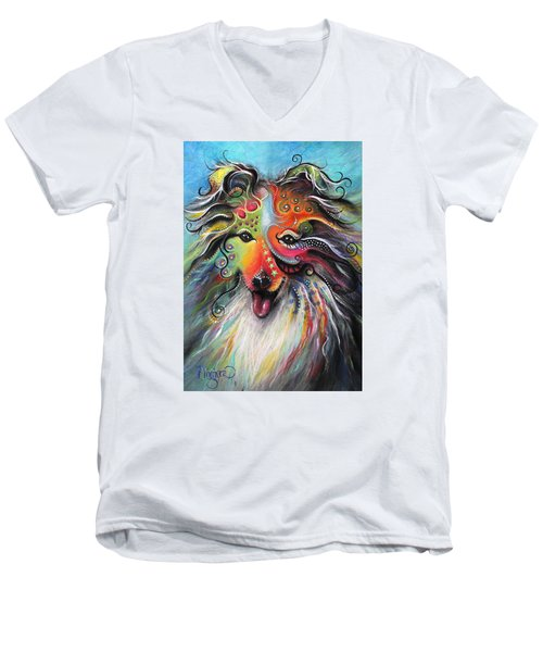 Sheltie  Men's V-Neck T-Shirt