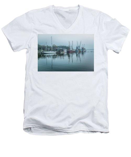 Shem Creek Fog Men's V-Neck T-Shirt
