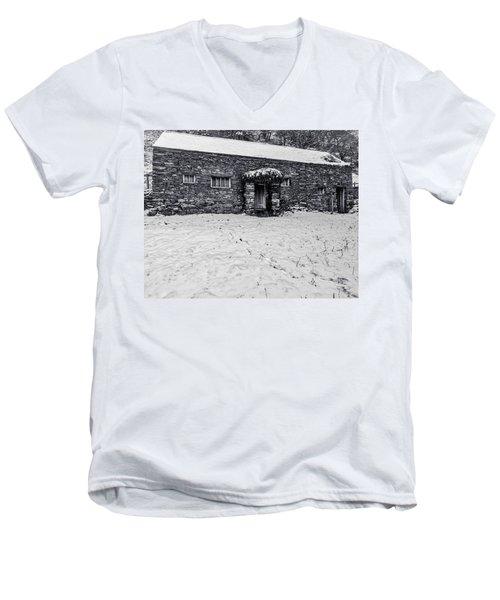 Shepherds Cottage Men's V-Neck T-Shirt by Keith Elliott