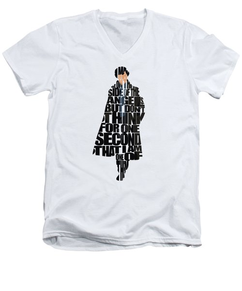 Sherlock - Benedict Cumberbatch Men's V-Neck T-Shirt
