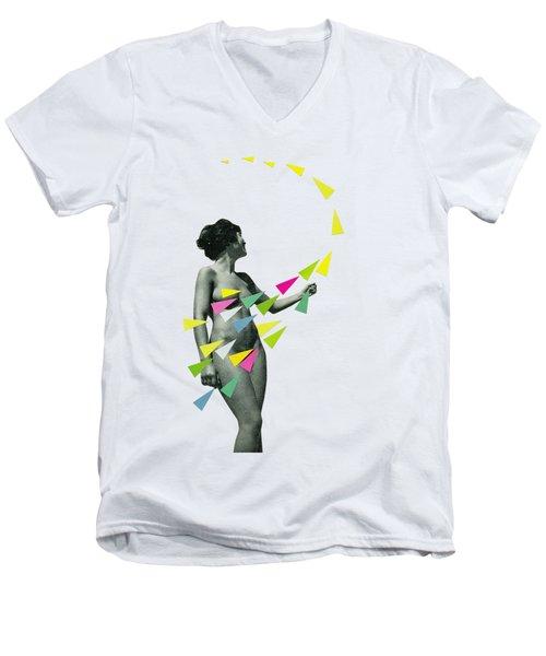 She's A Whirlwind Men's V-Neck T-Shirt