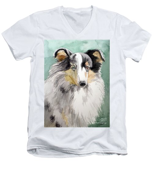 Shetland Sheep Dog Men's V-Neck T-Shirt