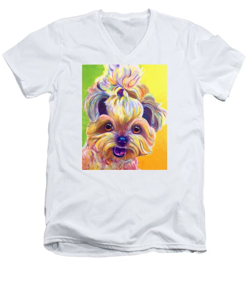 Shih Tzu - Bloom Men's V-Neck T-Shirt