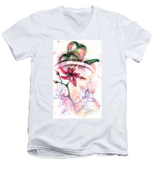 Shiraz Orchid II Men's V-Neck T-Shirt