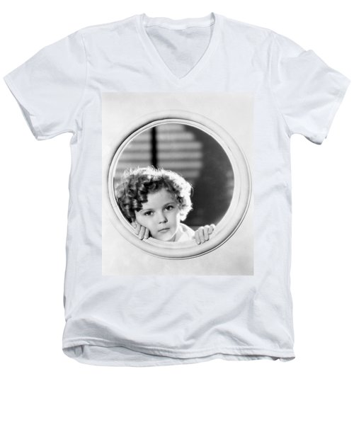 Shirley Temple (1928-2014) Men's V-Neck T-Shirt by Granger