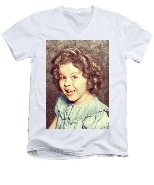 Shirley Temple, Actress Men's V-Neck T-Shirt