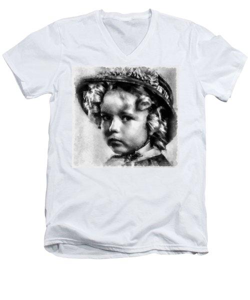 Shirley Temple Vintage Actress Men's V-Neck T-Shirt