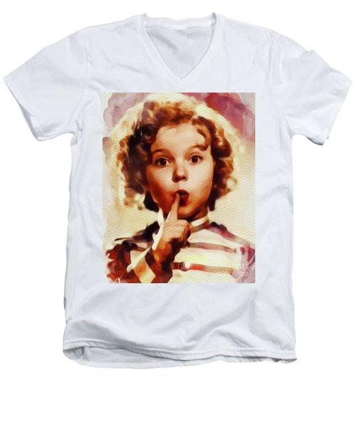 Shirley Temple, Vintage Movie Star Men's V-Neck T-Shirt