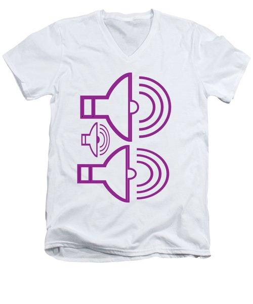 Shirts And Pod Gifts Graphic Siren Horn Alarm Purple Artist Navinjoshi Fineartamerica Pixels  Men's V-Neck T-Shirt