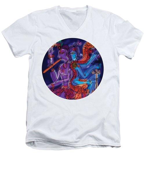 Shiva And Krishna Men's V-Neck T-Shirt