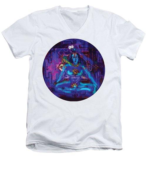 Shiva In Meditation Men's V-Neck T-Shirt