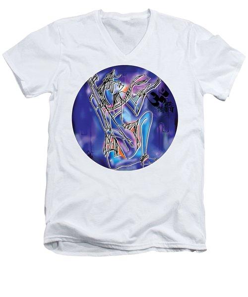 Shiva Playing Vina Men's V-Neck T-Shirt