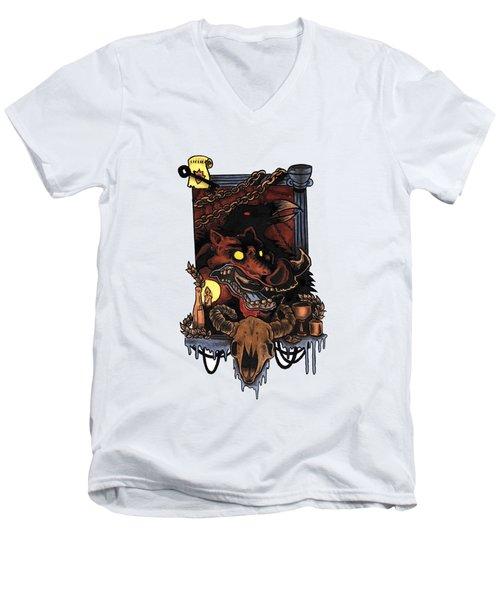 Shmignola Men's V-Neck T-Shirt by Vicki Von Doom