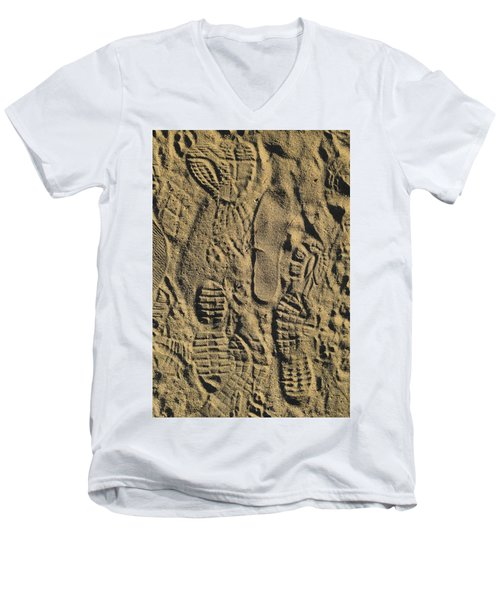 Shoe Prints II Men's V-Neck T-Shirt