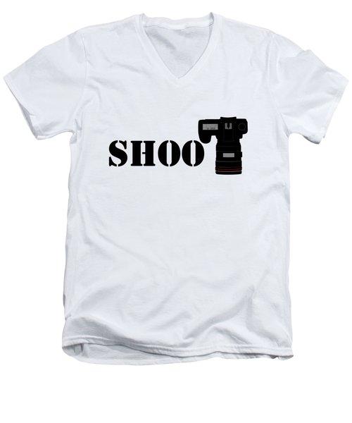 Shoot Men's V-Neck T-Shirt by Roger Lighterness