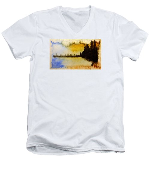 Shoreline 2 Men's V-Neck T-Shirt by R Kyllo