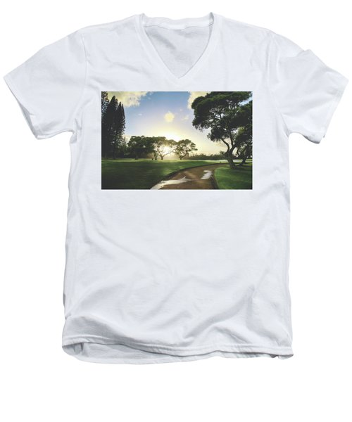 Men's V-Neck T-Shirt featuring the photograph Show Me The Way by Laurie Search