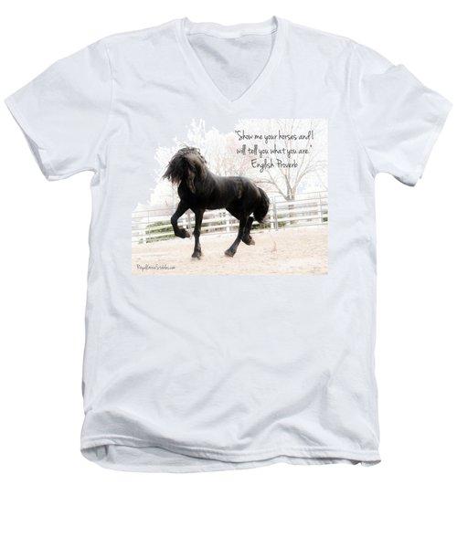 Show Me Your Horse Men's V-Neck T-Shirt