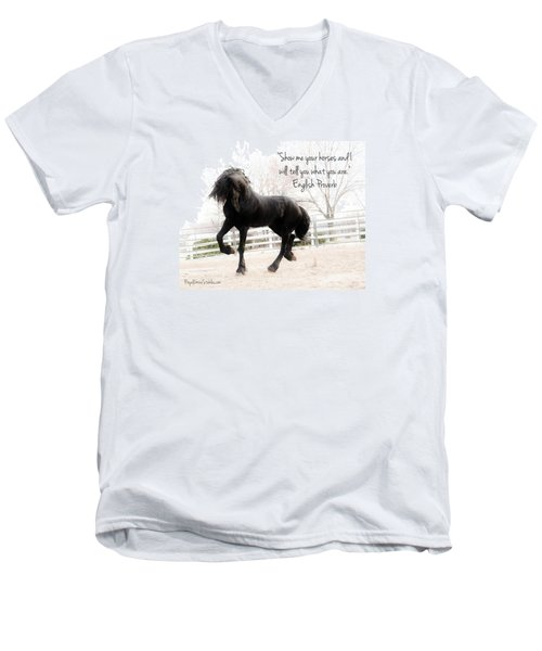 Show Me Your Horse Men's V-Neck T-Shirt