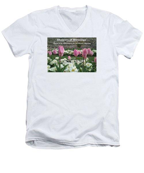 Showers Of Blessings Men's V-Neck T-Shirt