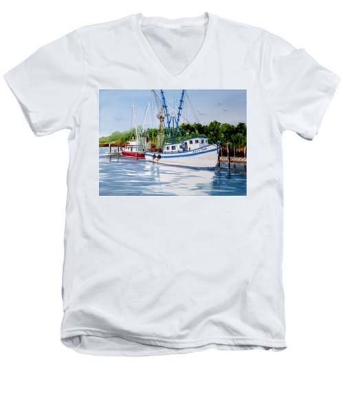 Shrimpers Men's V-Neck T-Shirt