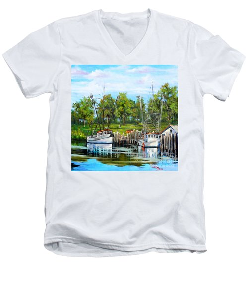 Shrimping Boats Men's V-Neck T-Shirt