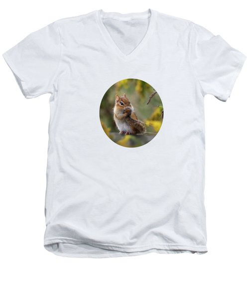 Shy Little Chipmunk Men's V-Neck T-Shirt