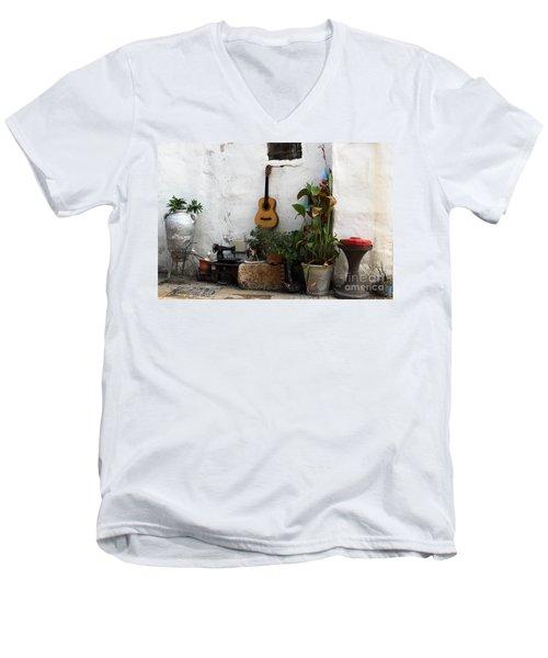 Sidewalk Collage #2 Men's V-Neck T-Shirt