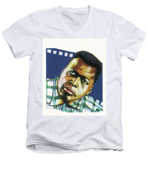 Sidney Poitier Men's V-Neck T-Shirt