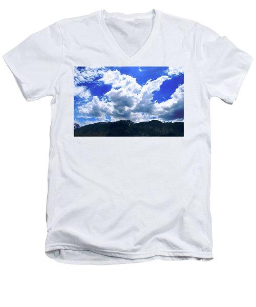 Sierra Nevada Cloudscape Men's V-Neck T-Shirt by Matt Harang