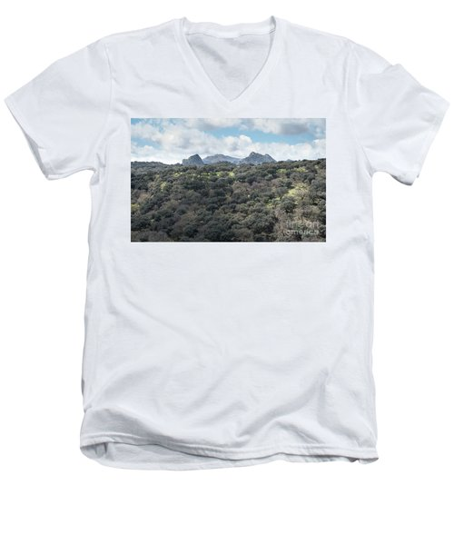 Sierra Ronda, Andalucia Spain Men's V-Neck T-Shirt