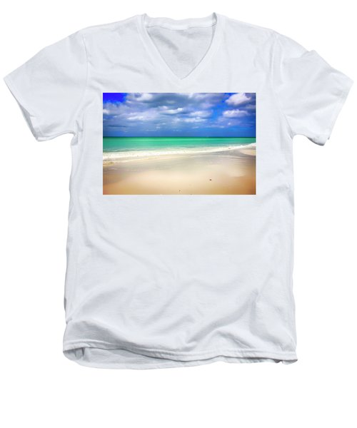 Siesta Key Beach Florida  Men's V-Neck T-Shirt