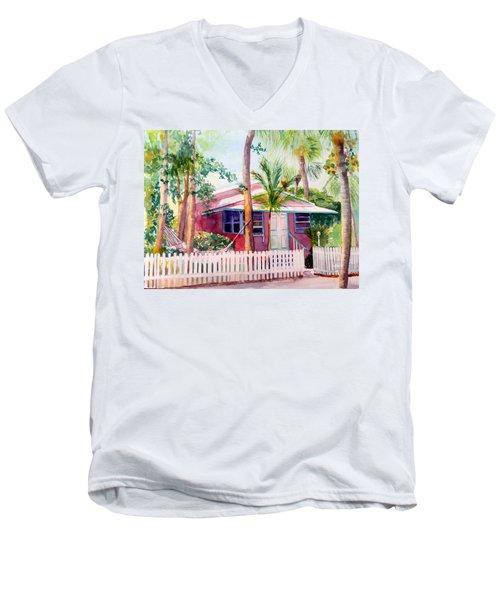 Siesta Key Cottage Men's V-Neck T-Shirt