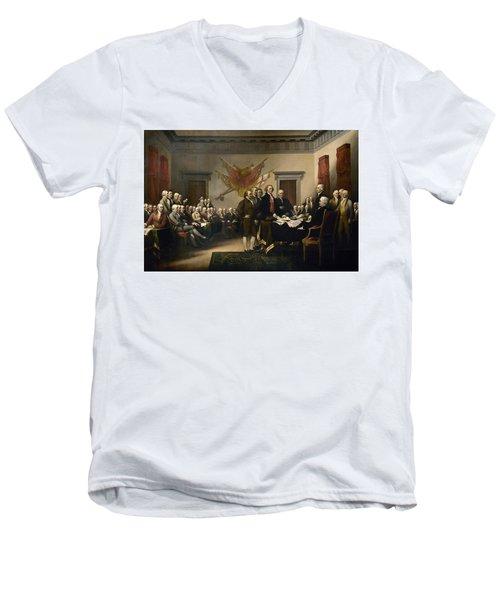 Signing The Declaration Of Independence Men's V-Neck T-Shirt