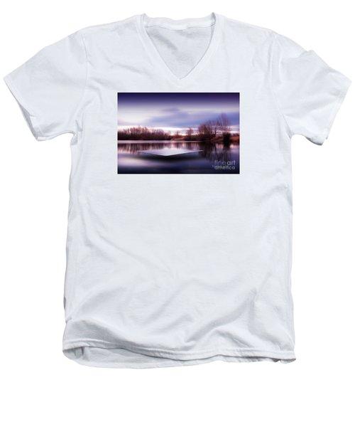 Silence Lake  Men's V-Neck T-Shirt