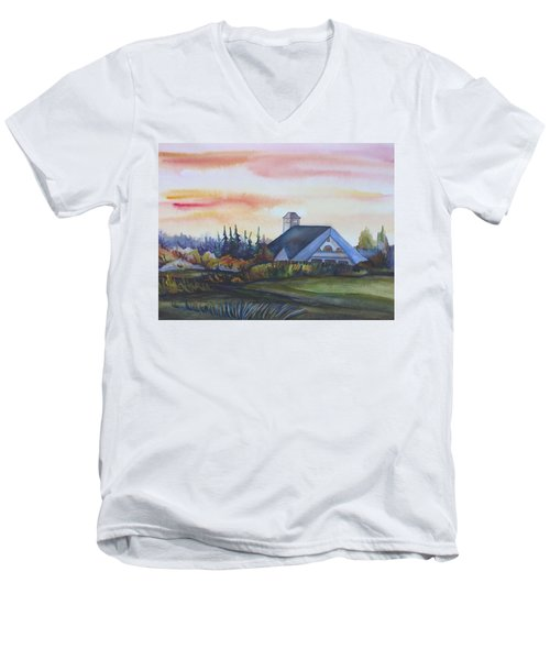 Silence Upon Midnapore Men's V-Neck T-Shirt by Anna  Duyunova