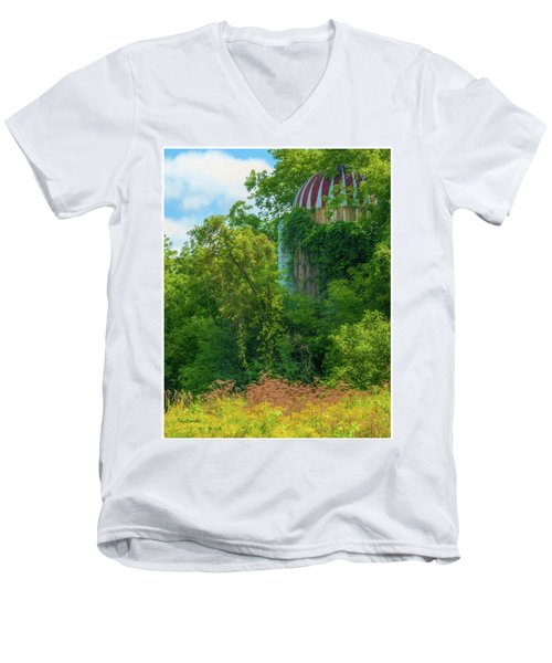 Silent Silo On Nottleson Road Men's V-Neck T-Shirt by Trey Foerster