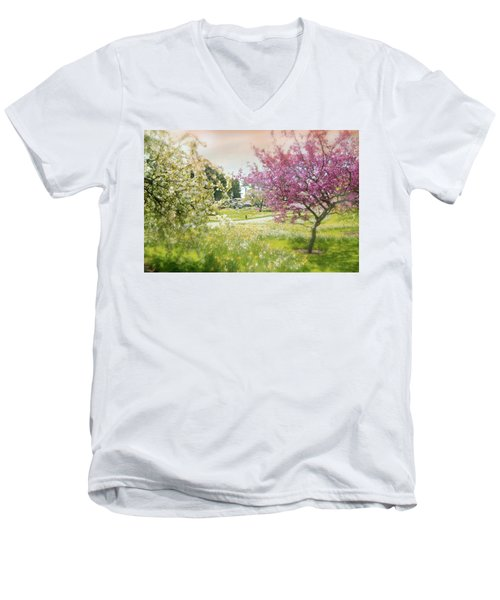 Men's V-Neck T-Shirt featuring the photograph Silent Wish You Make by Diana Angstadt