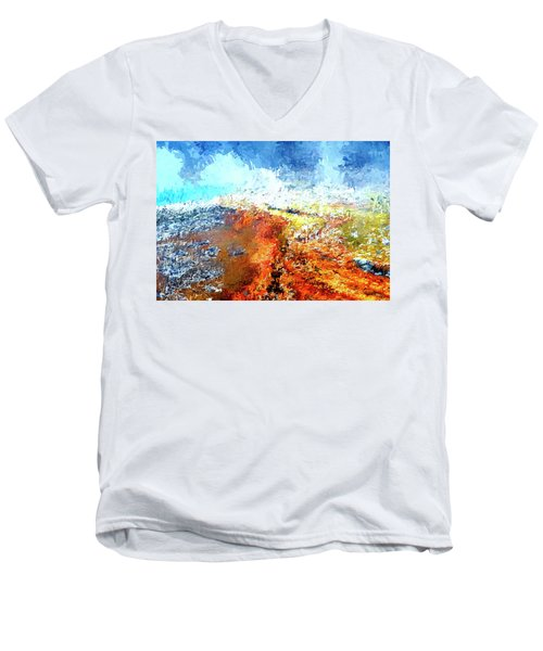 Silex Hot Springs Abstract Men's V-Neck T-Shirt