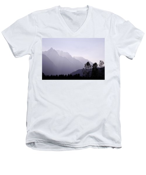 Silhouette Austria Europe Men's V-Neck T-Shirt by Sabine Jacobs