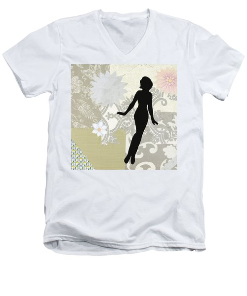Silver Paper Doll Men's V-Neck T-Shirt