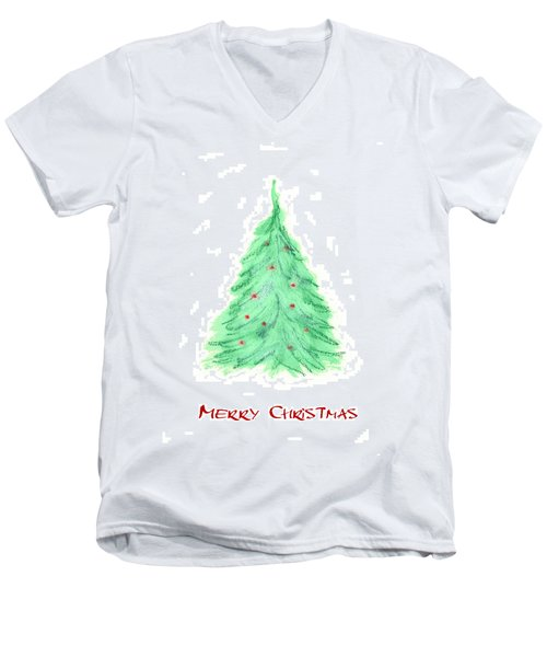 Simple Christmas Card 2 Men's V-Neck T-Shirt by Marna Edwards Flavell
