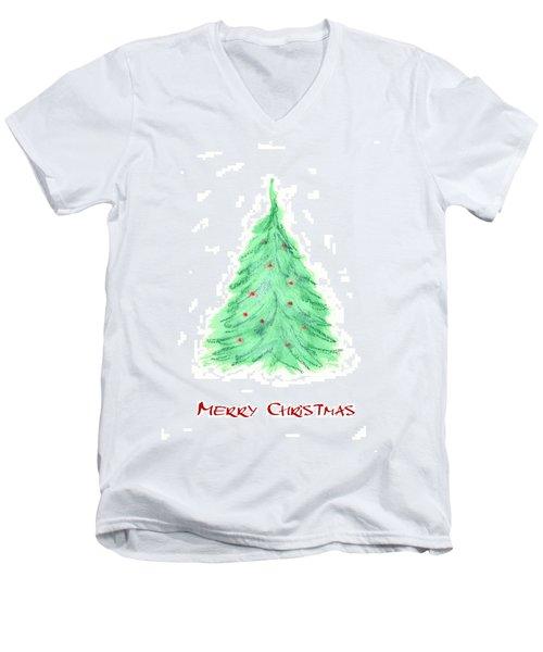 Simple Christmas Card 2 Men's V-Neck T-Shirt